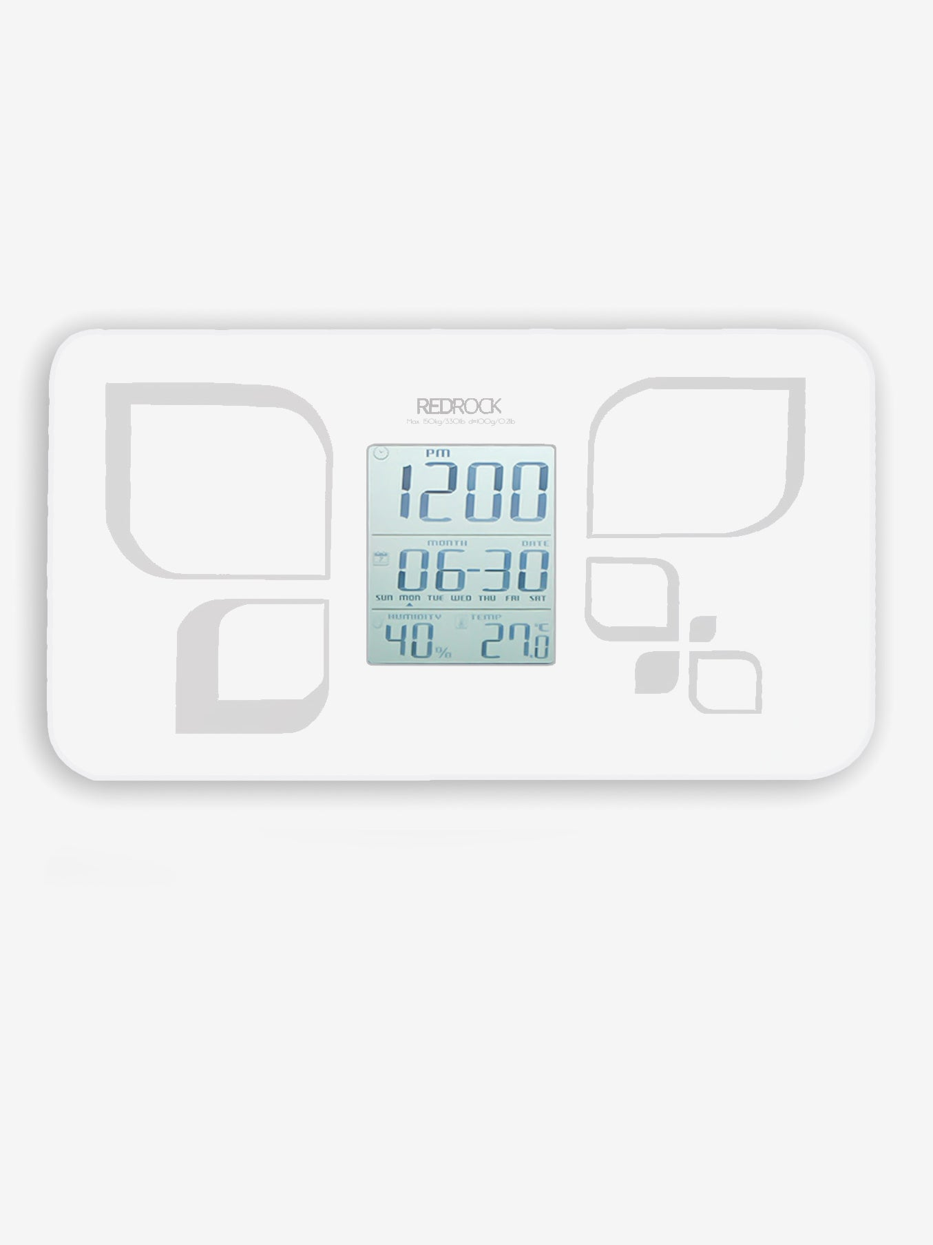 6-in-1 Digital Calendar Scale in White