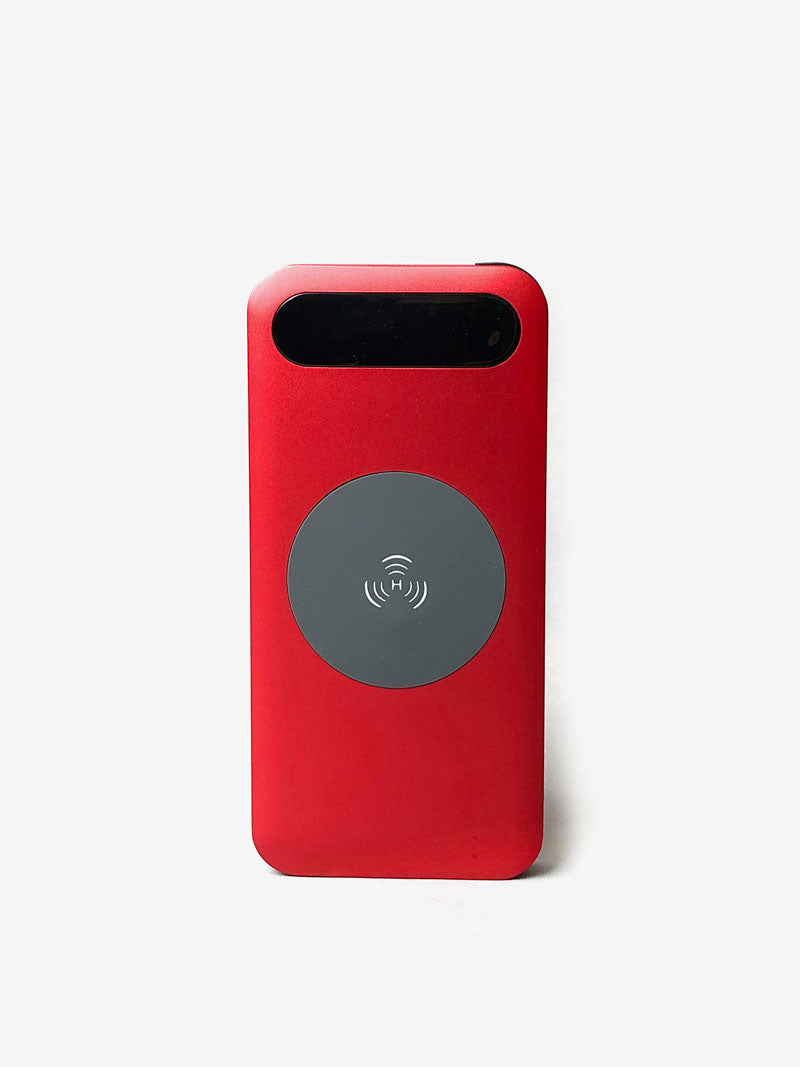 Qi Wireless Charger with USB Cables in Red