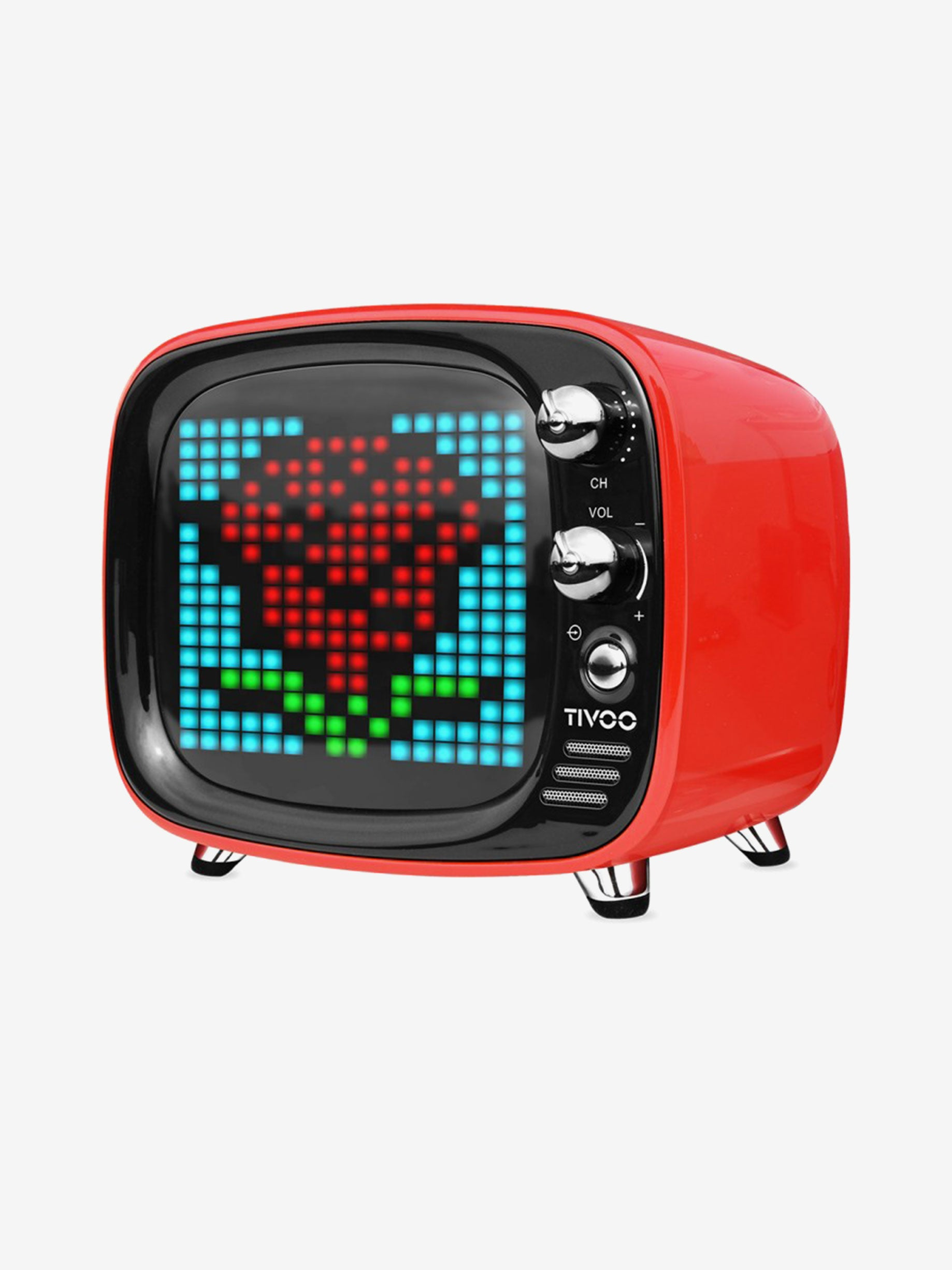 Divoom Smart Pixel Art Bluetooth Speaker in Red