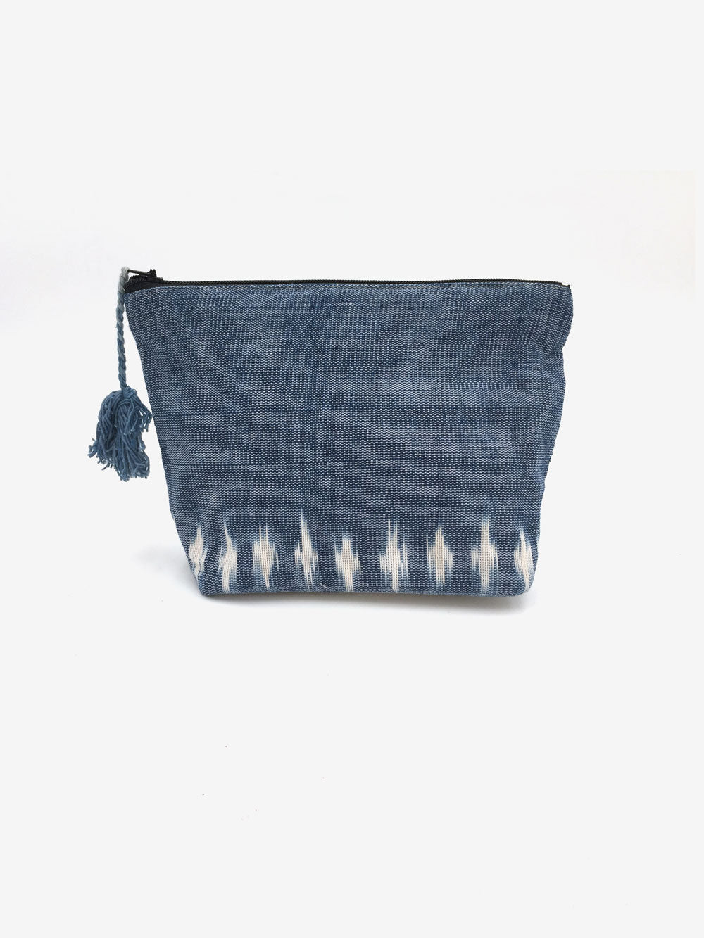 Handwoven Pouch in Cobalt Blue
