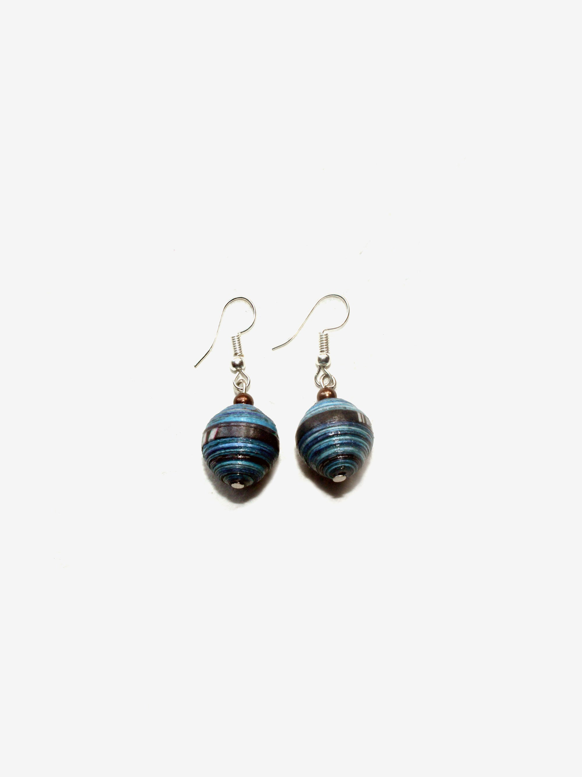 Handcrafted Lao Earrings in Bluebird