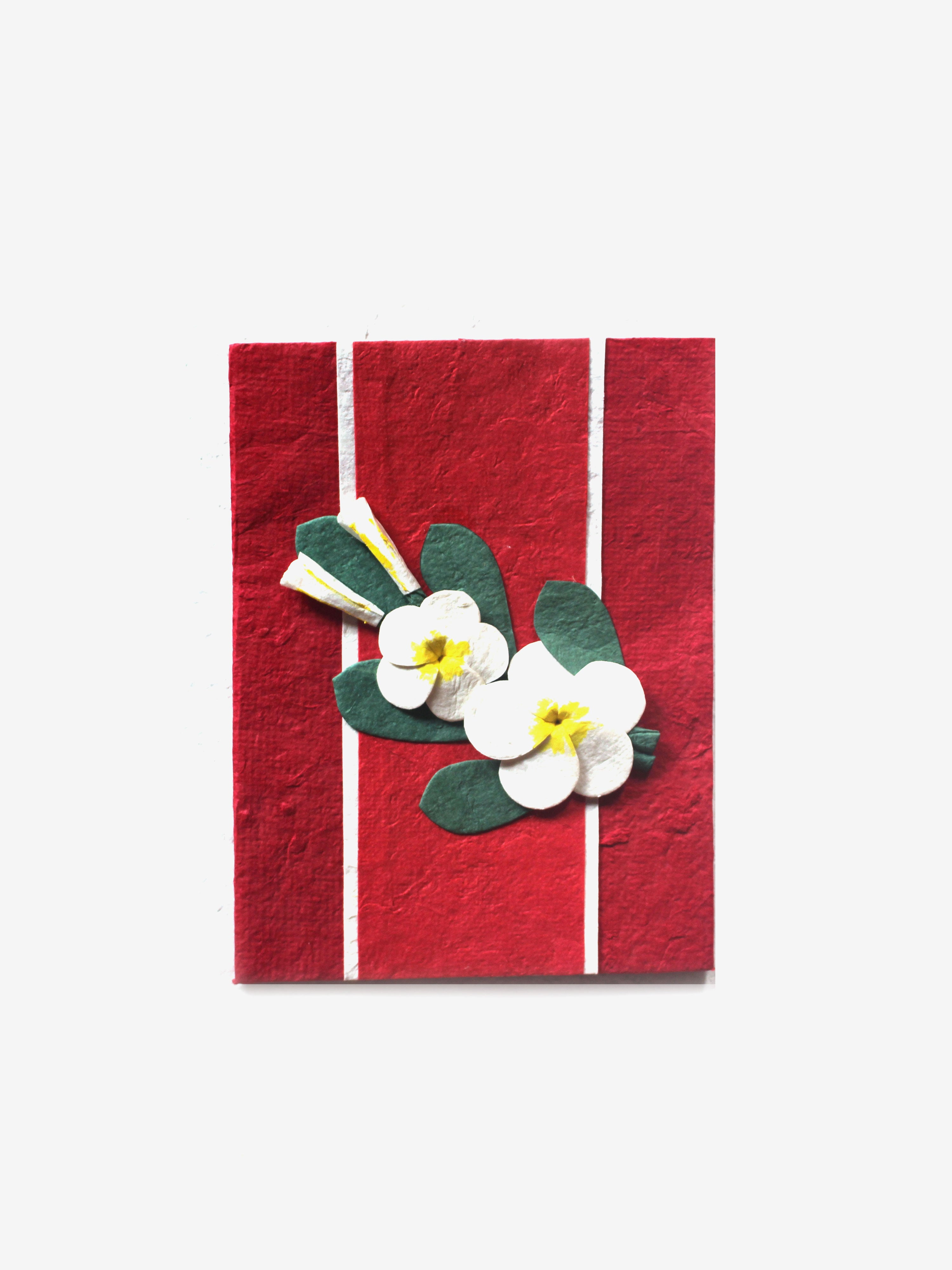 Handcrafted Holiday Cards in Red (Set of 4)
