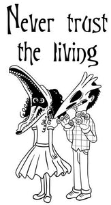 "Beetlejuice ""Never Trust the Living"" Color Vinyl Decal"