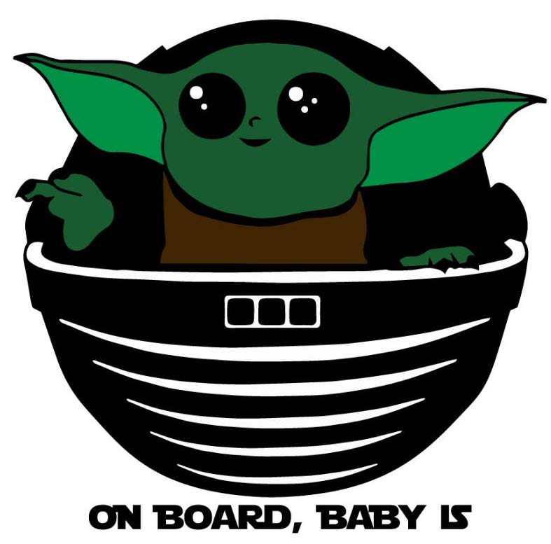 Mandalorian On Board Baby is Decal Sticker