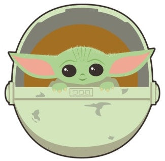 Mandalorian Baby Yoda in Egg Decal Sticker