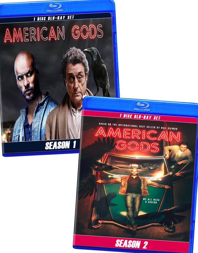 American Gods Seasons 1 and 2 in Blu-Ray™