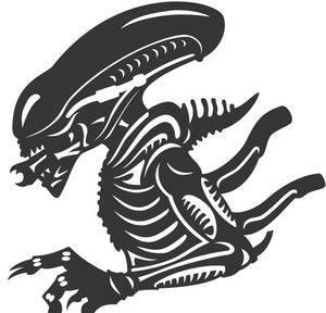 Alien Exoskeleton Vinyl Decal