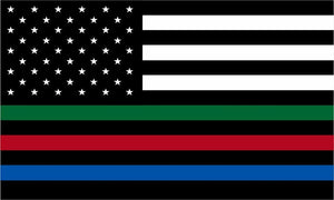 First Responder Thin Line American Flag