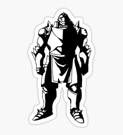 Anime Alphonse Elric FAM Brotherhood Color Vinyl Decal/Sticker