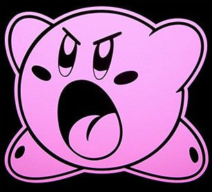 Angry Kirby Vinyl Decal