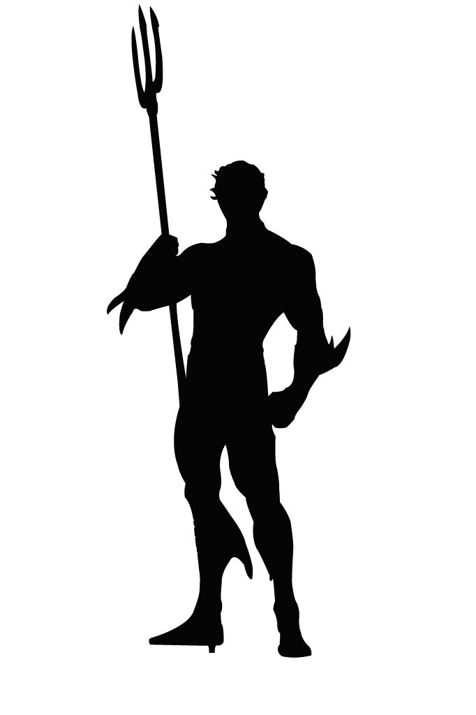 Aquaman Silhouette Vinyl Decal Sticker