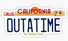 Back to the Future 'OuttaTime' License Color Vinyl Decal