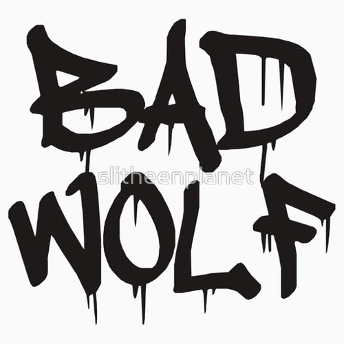 Dr Who Bad Wolf Dripping Vinyl Decal Sticker