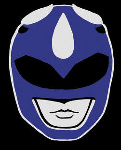 Blue Power Ranger Vinyl Decal Sticker