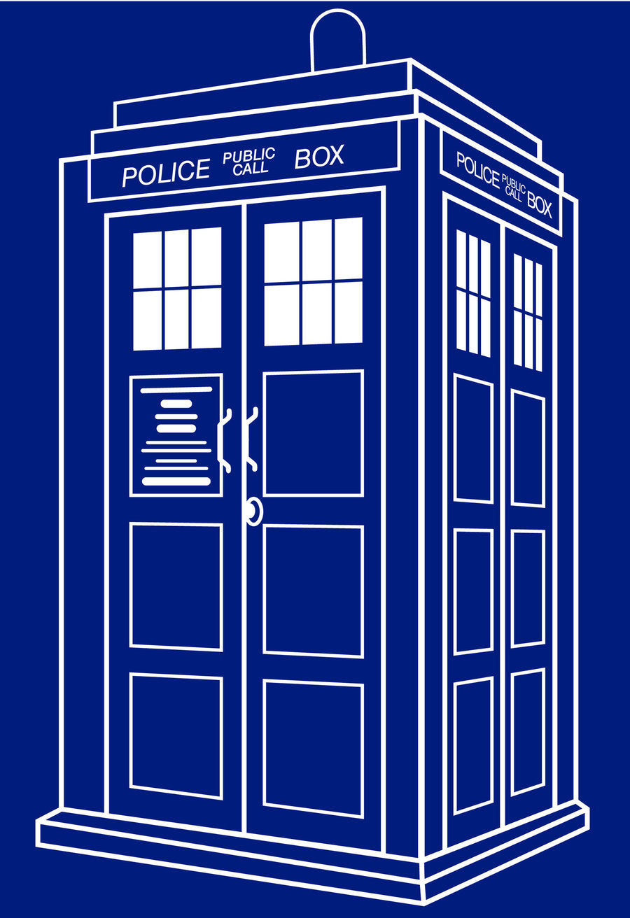 Blue TARDIS Vinyl Decal Sticker