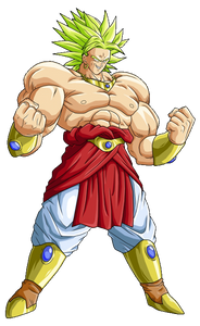 Broly Flexing Color Vinyl Decal