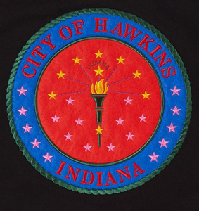 "Stranger Things ""City of Hawkins, Indiana"" Color  Vinyl Decal"