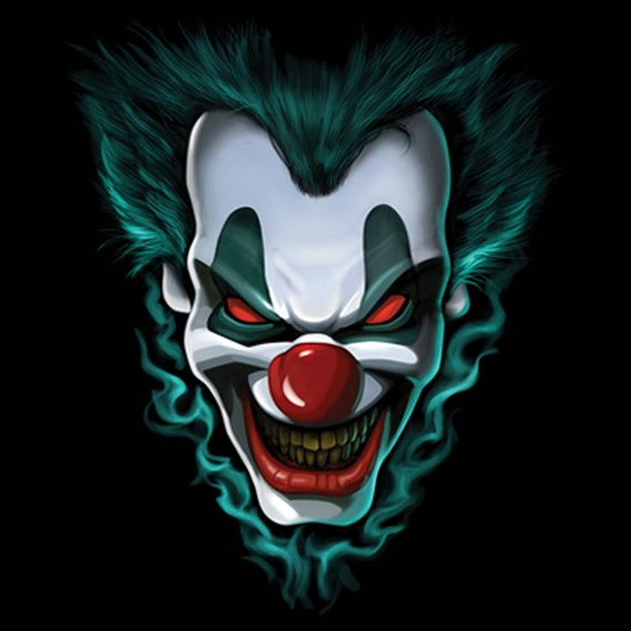 Green Clown Color Vinyl Decal