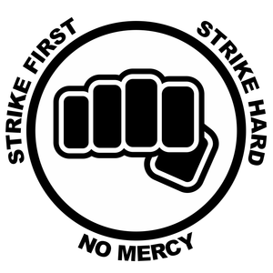 Cobra Kai Strike First Fist Vinyl Decal