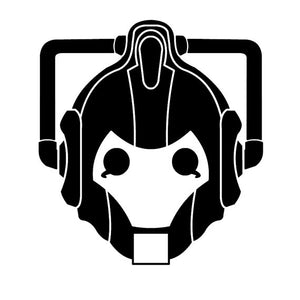 Dr Who Cyberman Vinyl Decal Sticker