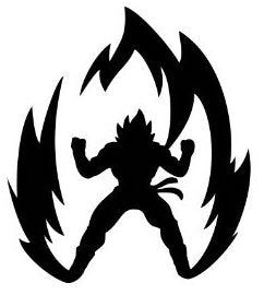Dragon Ball Z Silhouette Vinyl Decal/Sticker