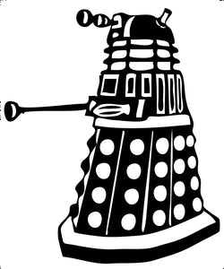 Dr Who Dalek Vinyl Decal Sticker