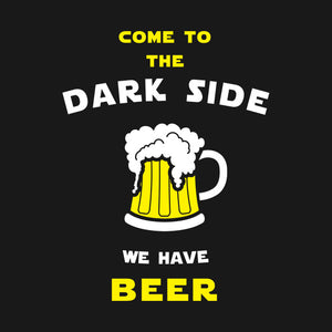 "Star Wars ""Come to the Dark Side We have Beer"" Vinyl Decal Sticker"