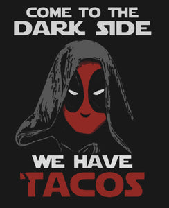 "Deadpool  ""Come to the Dark Side, We Have Tacos?"" Vinyl Decal Sticker"