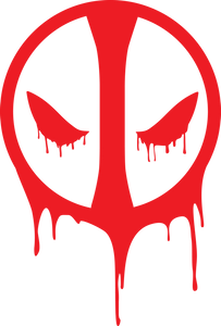 Deadpool Melting Mask Vinyl Decal/Sticker