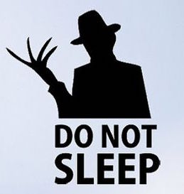 Freddie Do Not Sleep Vinyl Decal Sticker