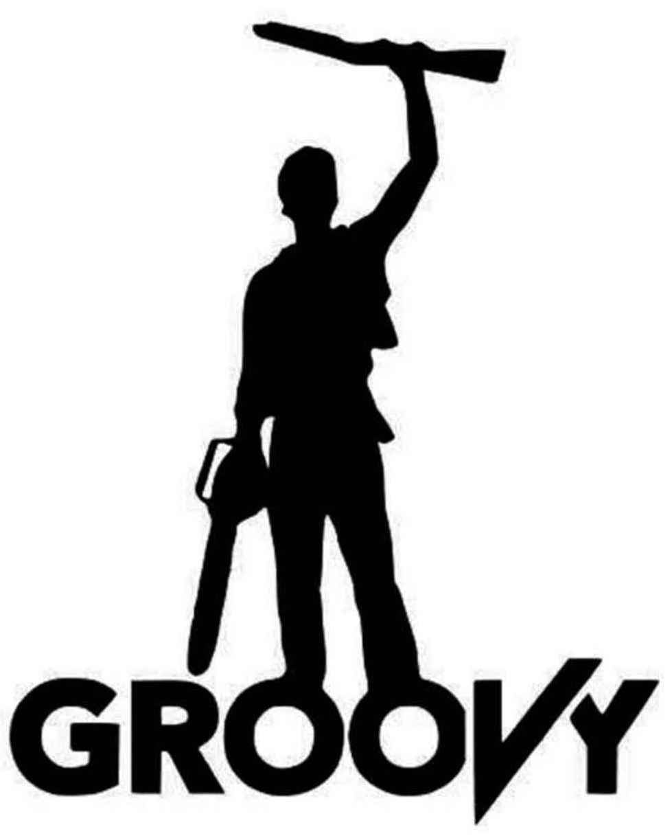 Evil Dead Ash 'Groovy' Vinyl Decal Sticker
