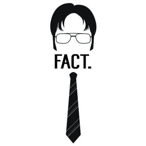 "The Office Dwight K Schrute ""FACT"" Color Vinyl Decal"