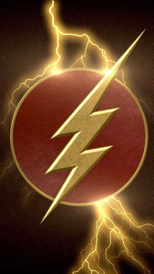 Flash Logo with Lightning Color Decal