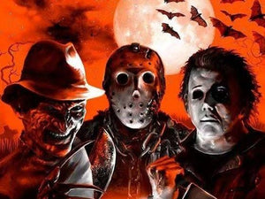Freddy, Jason and Michael Color Vinyl Decal