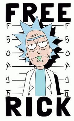 Rick & Morty 'Free Rick' Color Vinyl Decal