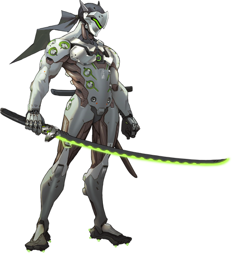 Anime Overwatch 'Genji' Color Vinyl Decal Sticker