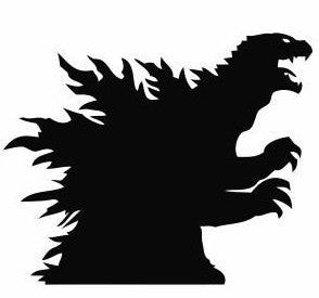 Godzilla Profile Vinyl Decal Sticker