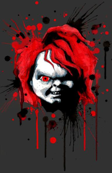 Bloody Chucky Color Vinyl Decal