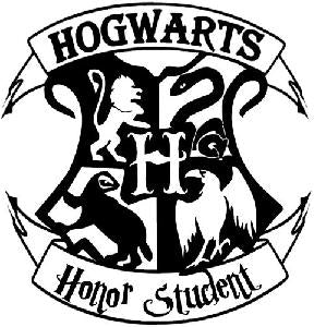 Hogwarts Honor Student Harry Potter Vinyl Decal Sticker