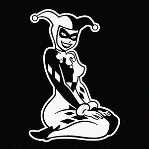 Harley Quinn Sitting Vinyl Decal Sticker