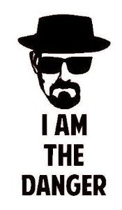 Breaking Bad I am the Danger Vinyl Decal/Sticker