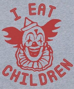 "Clown ""I Eat Children"" Color Vinyl Decal"