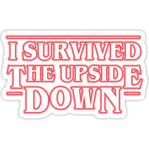 "Stranger Things ""I Survived the Upside Down"" Color  Vinyl Decal"