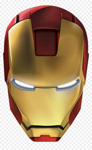 Iron Man Mask Color Vinyl Decal
