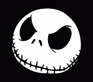 Nightmare Before Christmas Jack Skellington Vinyl Decal/Sticker
