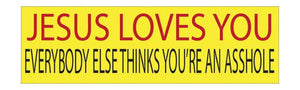 "Car Window ""Jesus Loves You"" Color Vinyl Decal"