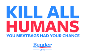 "Bender ""Kill All Humans"" Color Decals"
