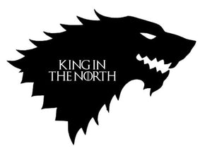 King In The North Game of Thrones Vinyl Decal Sticker