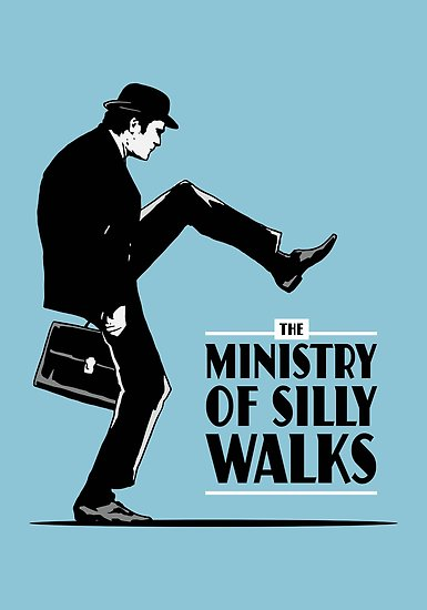 Ministry of Silly Walks Color Vinyl Decal