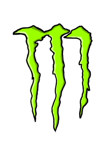 Monster Logo Color Vinyl Decal